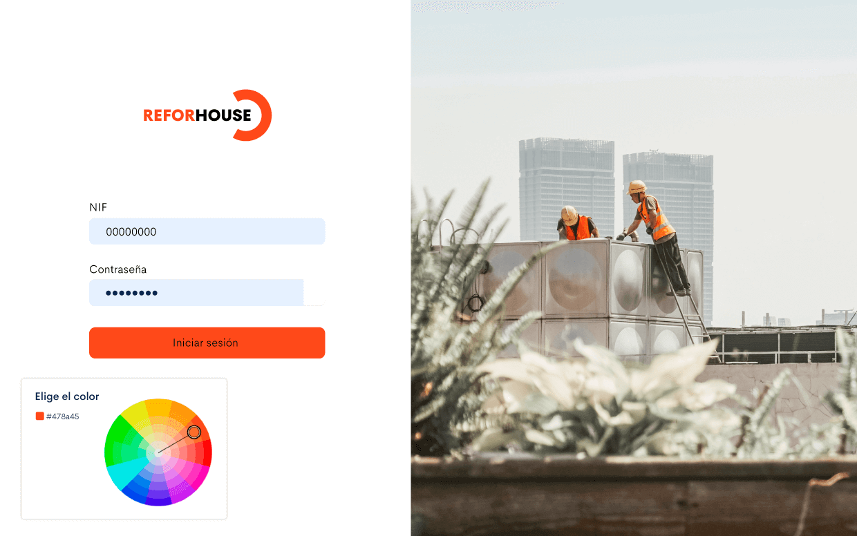 Con Bilky podrás personalizar tu propio portal empresa con la imagen de tu marca: añade tu logotipo, colores y demás características.