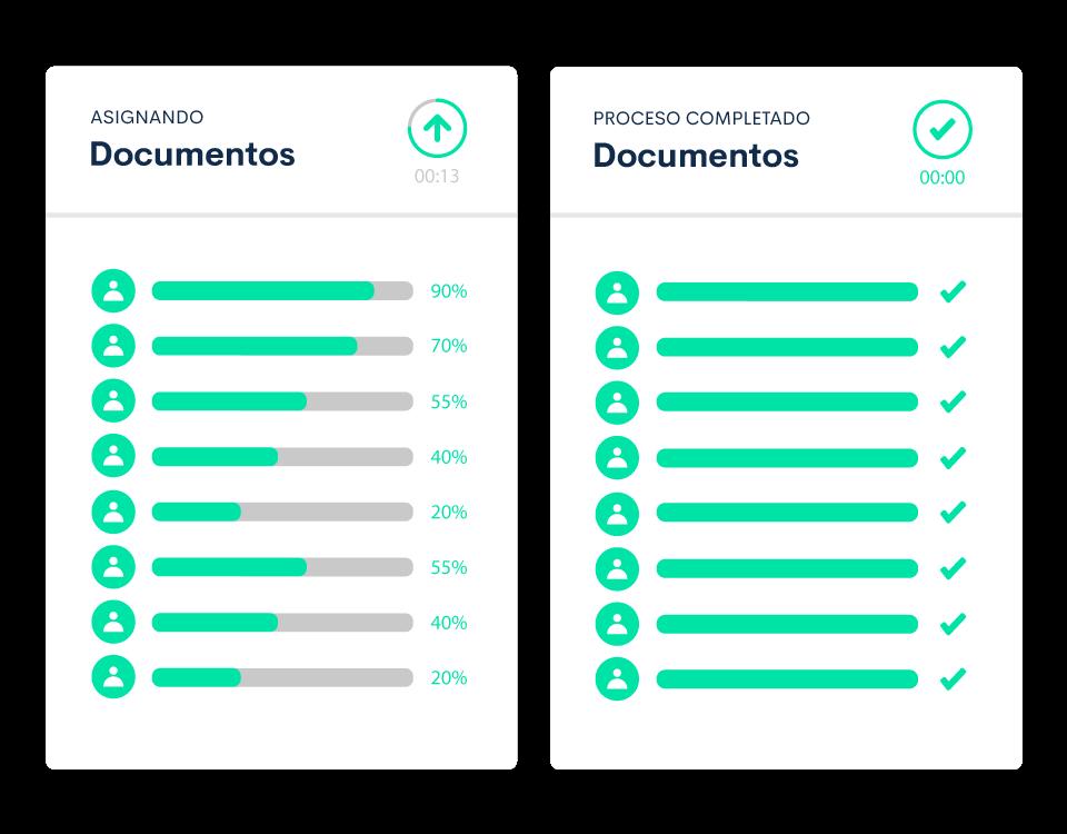 Envía y distribuye documentos de forma automática y certificada a cada uno de tus empleados.