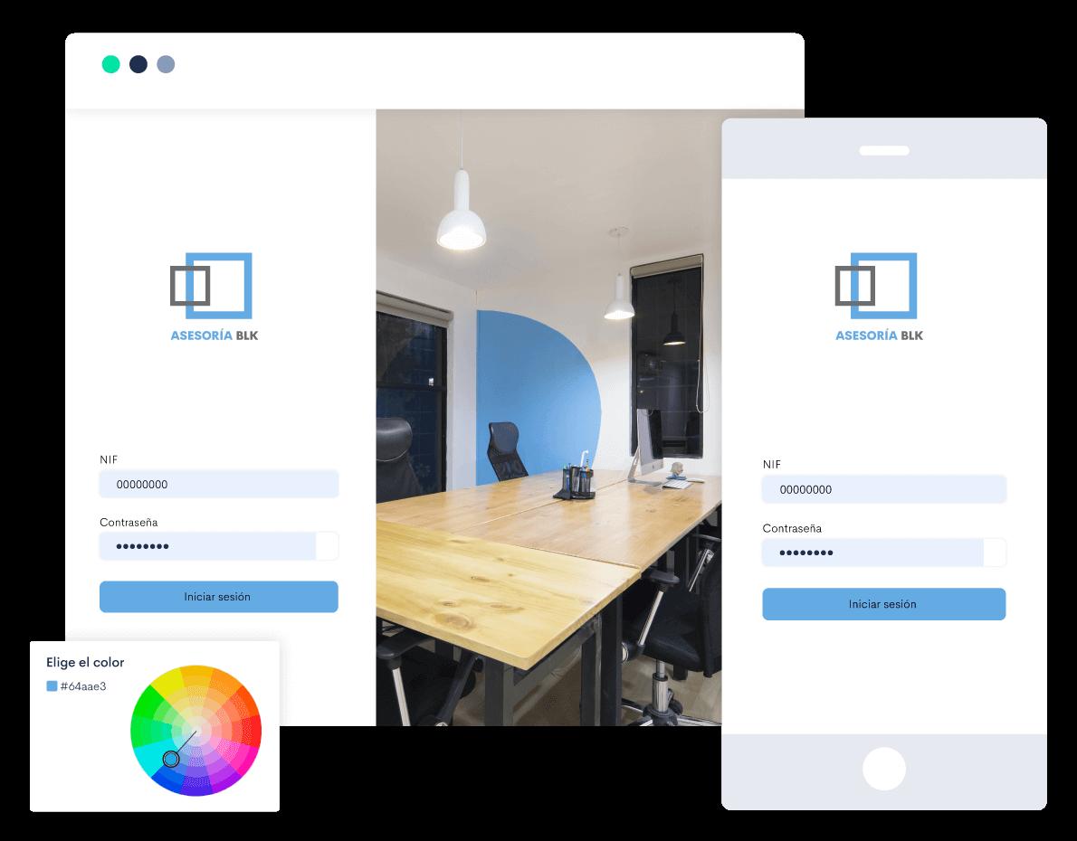 Personaliza tu portal con la imagen de tu marca: añade logotipo, imágenes y colores. Además, personaliza los mensajes de los emails.