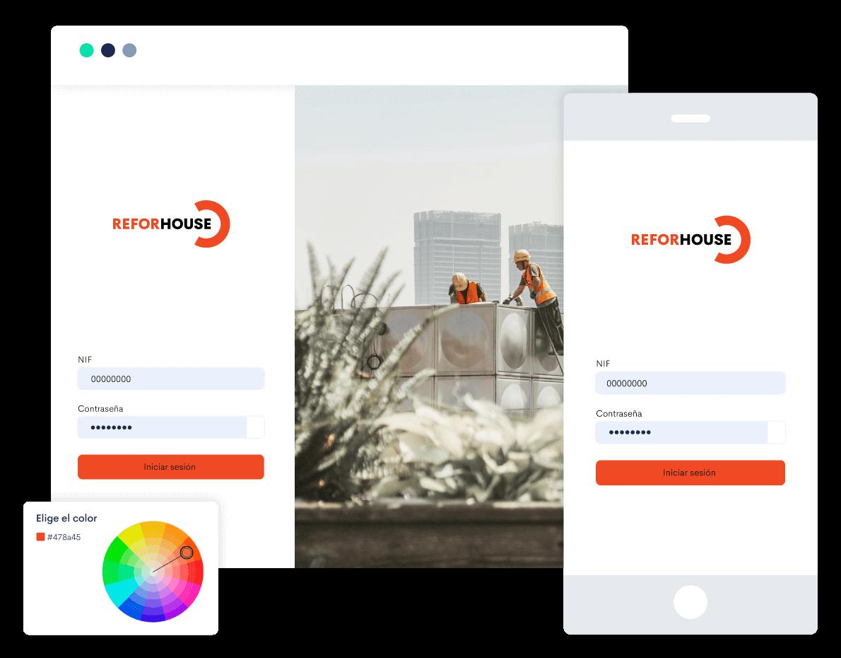 Personaliza tu propio portal empresa y ofrece a tus empleados un acceso directo a su portal empleado con la imagen de tu marca.